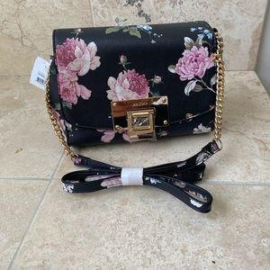 Aldo floral pattern cross body purse